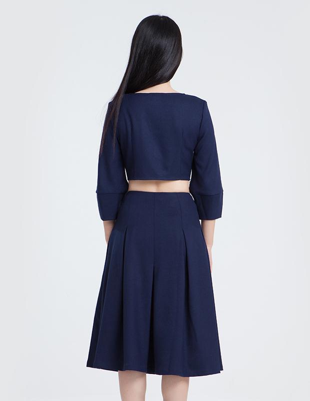 【伊霓裳】L-14220 7分宽摆半裙