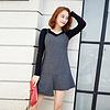 YCDQ-018 荷叶边条纹吊带连衣裙