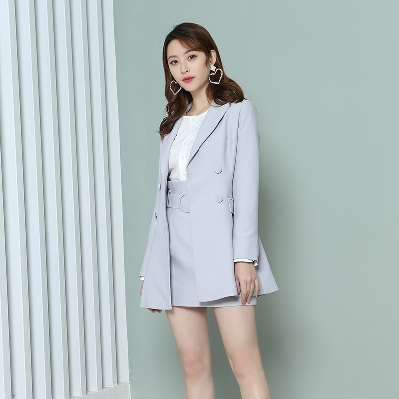 YNS108 chic韩范气质西装套装