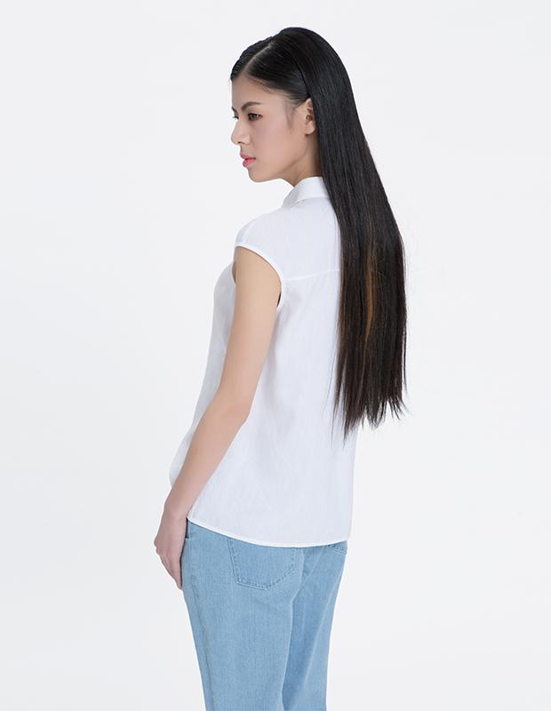 【伊霓裳】YCAL6-8300 时尚字母撞色边衬衫