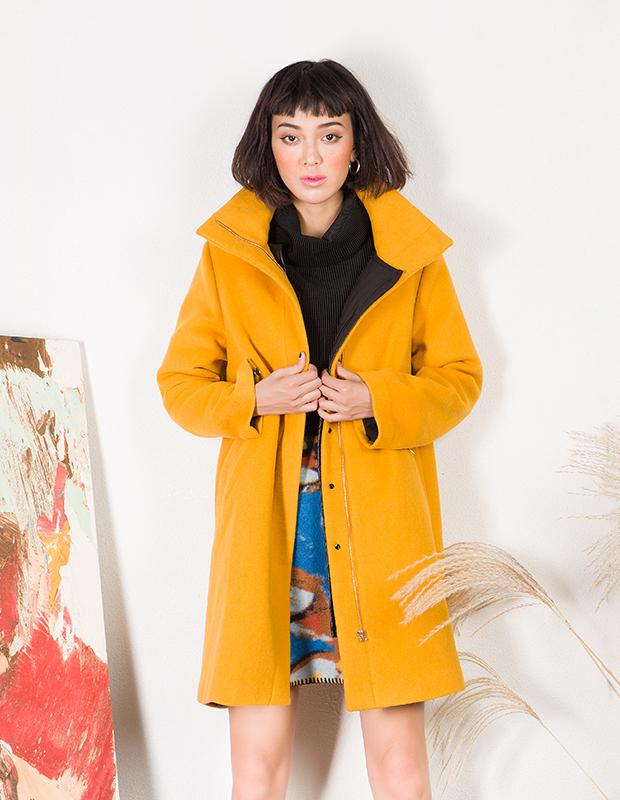 YCDL6-411 结构两件套呢大衣