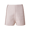 D181105-2 高腰镶边呢短裤