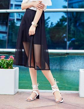 YCBQ-734 网纱长半裙