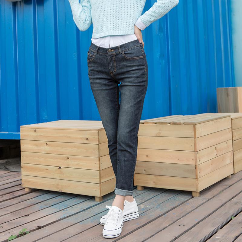 YCCW8-0026 百搭显瘦弹力舒适牛仔长裤