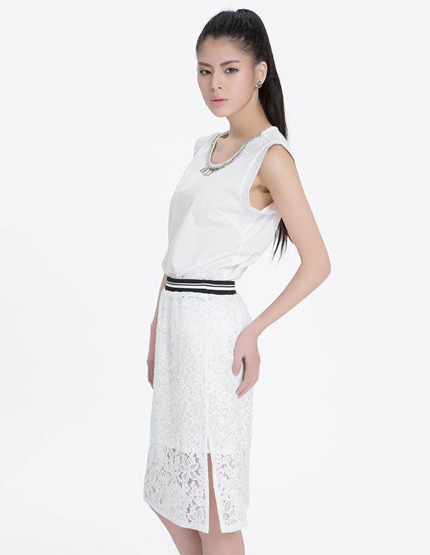 【伊霓裳】YCAL6-1230 运动风蕾丝半身包裙