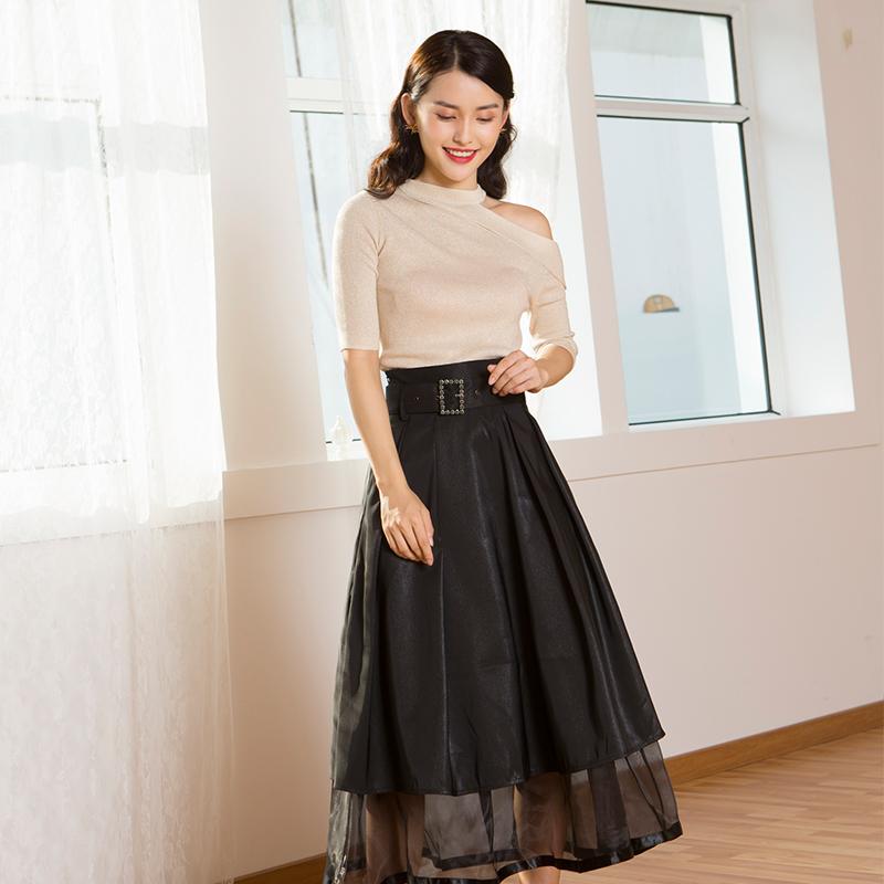YNS123 初见倾心时尚套装(半裙组合)