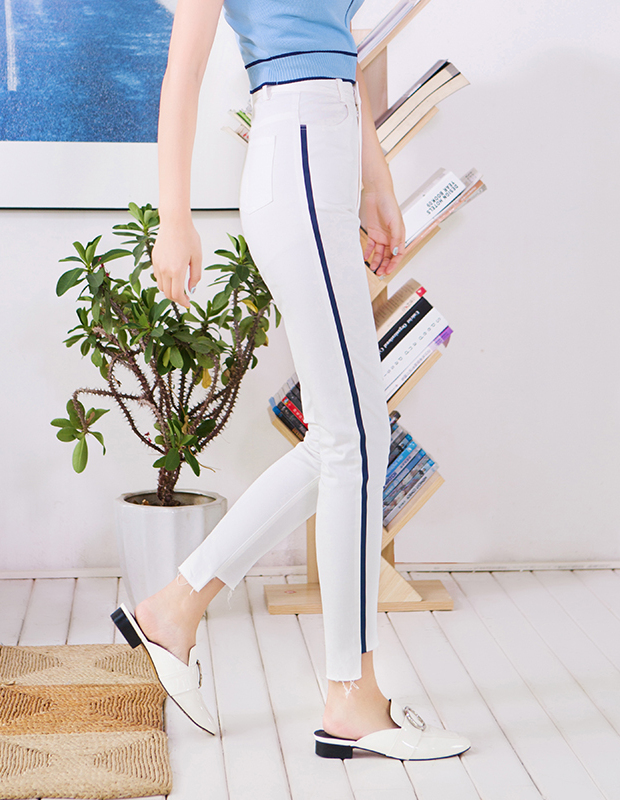 【伊霓裳】服装积分兑换 YCCQ-509 款式竖条压胶撕边打底裤