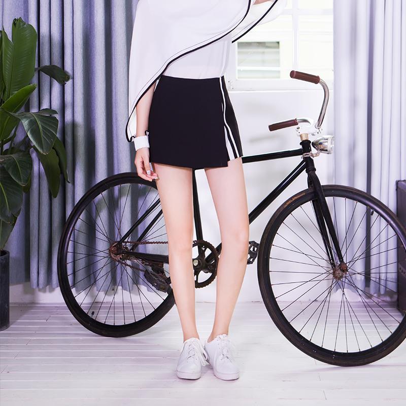 服装积分兑换 YCCQ-022 不规则撞色织带裤裙