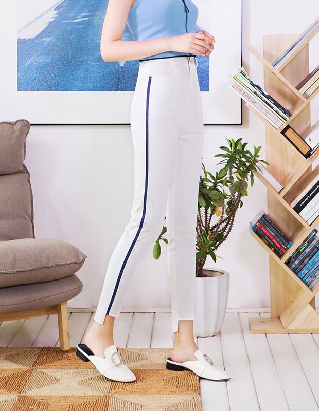服装积分兑换 YCCQ-509 款式竖条压胶撕边打底裤