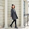 YCDQ-053 茧型条纹呢子大衣