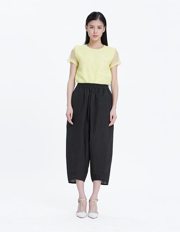 15067 个性时尚宽松阔腿裤