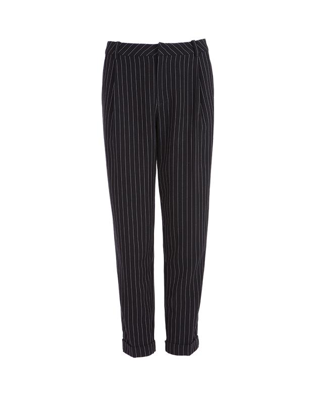 【伊霓裳】YCCL1-231 复古竖条纹九分锥形裤