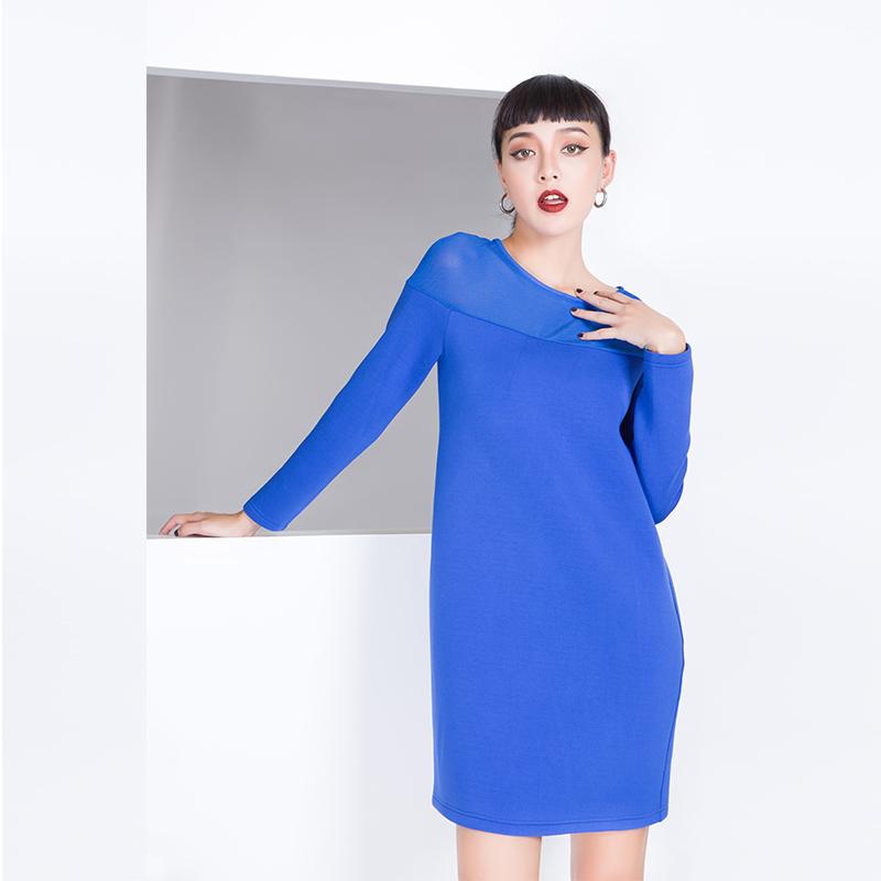 YCDL8-073 拼接优雅连衣裙