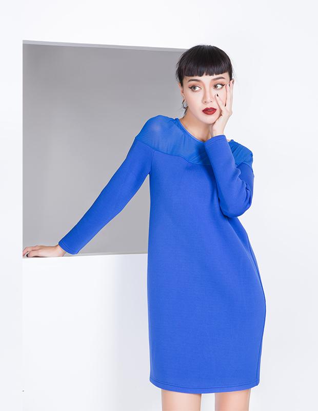 【伊霓裳】YCDL8-073 拼接优雅连衣裙