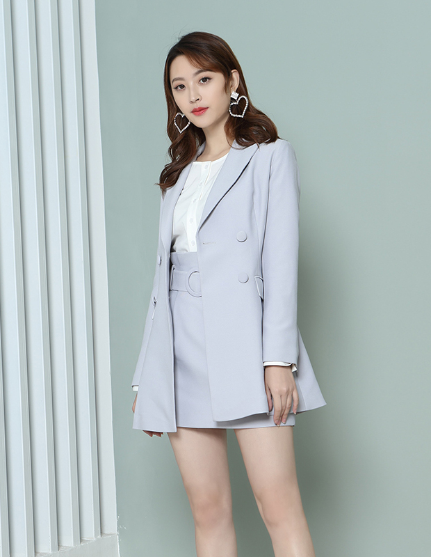 【伊霓裳】YNS108 chic韩范气质西装套装
