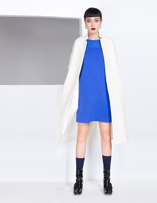 【伊霓裳】YCDL8-070 立领落肩茧型呢大衣