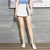 YCCQ-022-1 不规则撞色织带裤裙