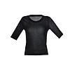 D190701-1 沁爽黑絲五分袖針織衫